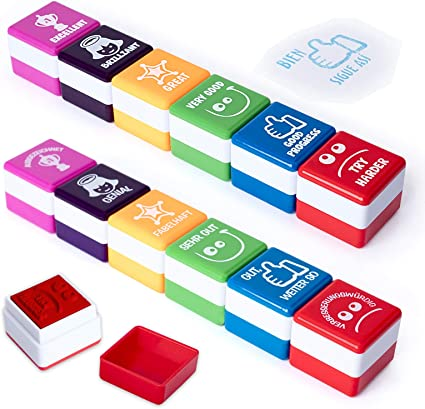 PracticOffice - Pack 6+6 Sellos Motivación para Niños y Jovenes ...