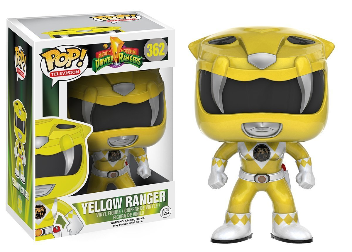 Bundled with Pop BOX PROTECTOR CASE Funko Pop TV: Mighty Morphin Power Rangers Yellow Ranger #362 Vinyl Figure