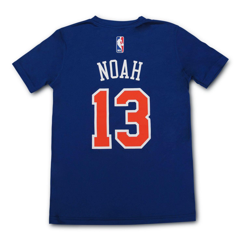 a1dbf2fa3 Amazon.com   Joakim Noah New York Knicks  13 NBA Youth Climalite Player T- Shirt Jersey (Large 14 16)   Sports   Outdoors