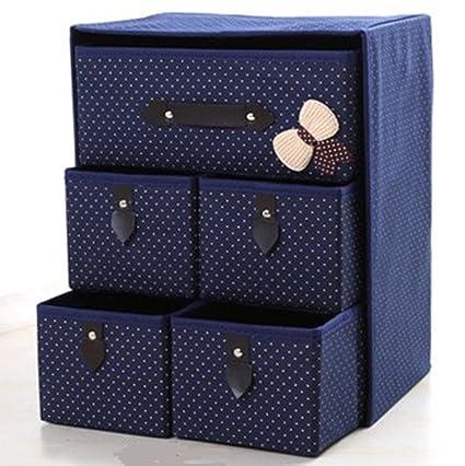 hoirzon Organizador de cajones plegable, separadores de armario y caja de almacenamiento plegable para sujetadores