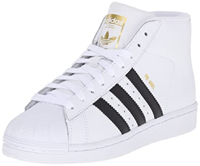 Adidas Pro Model J Fashion Sneaker (Little Kid/Big Kid), White/