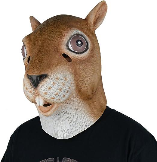 larpgears Halloween disfraz fiesta máscara de látex de goma Animal ...
