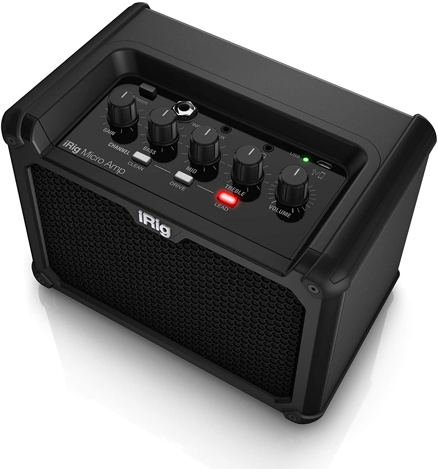 Amazon Com Ik Multimedia Irig Micro Amp 15w Battery Powered Guitar Amplifier With Ios Usb Interface Ip Irig Microamp In Musical Instruments