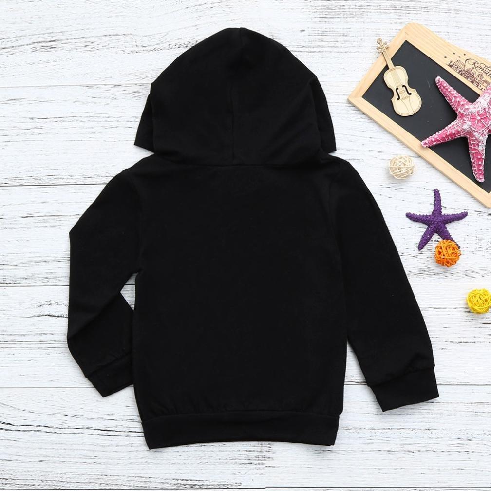Leegor Baby Boys Girls Hooded Sweatshirts Infant Letter Kangaroo Bag Hoodies Tops