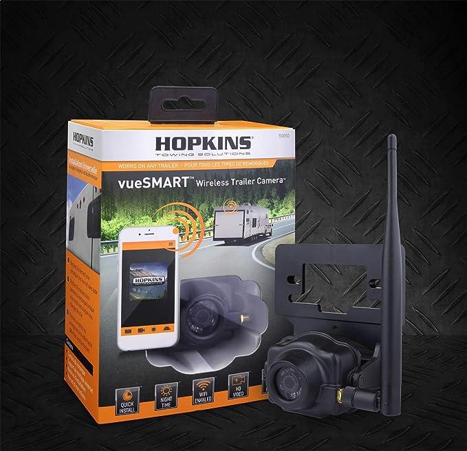 Amazon.com: Hopkins Towing Solution 50050 VueSMART Trailer Camera VueSMART Trailer Camera: Automotive