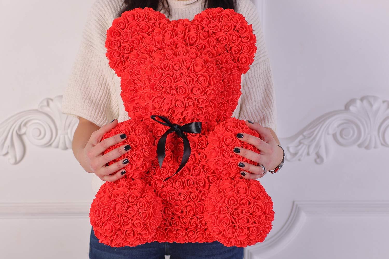Blue Love Bear Teddy Bear Rose Faux Flower Rose Teddy Bear Rose Bear Forever Rose Bear Forever Blue Rose Bear