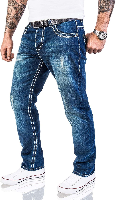 Rock Creek Designer Jeans Spessi Cuciture Blu RC-2056