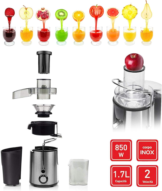 Hoomei - Centrifugador de zumo en frío, 850 W, 1,7 litros, litro ...