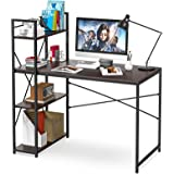 Computer Desk with Shelves, 47 Inch Writing Study Table Desk for Bedrooms, Modern Style PC Laptop Home Office Desk with…