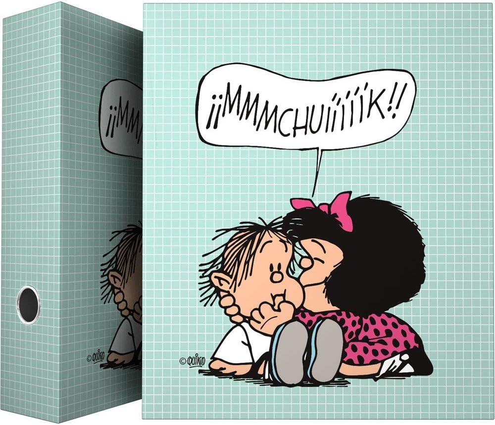 Modelo Lunares Grafopl/ás 88141972 Colecci/ón Mafalda Carpeta de 4 Anillas Mixtas 25mm A4