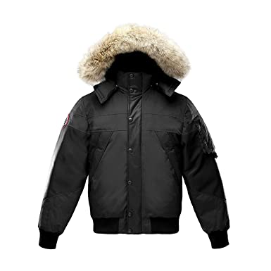 Triple F.A.T. Goose Ovstyn Mens Leather Panel Down Jacket with ...