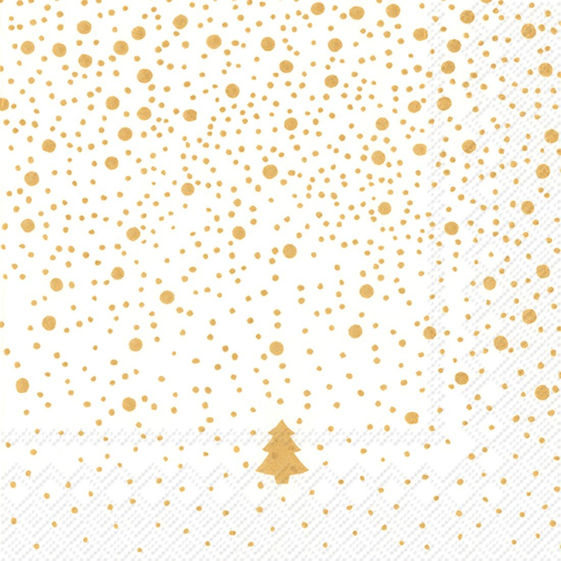 Ideal Home Range 20-Count Silence Paper Luncheon Napkins, Gold