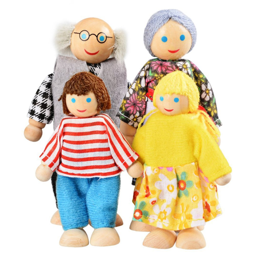 Happy Doll Family Of 4 People Dolls & Stuffed Toys Dolls