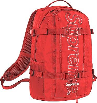 b6b0874f5ef Supreme backpack,bag supreme,Supreme bag (FW18 red): Amazon.co.uk ...