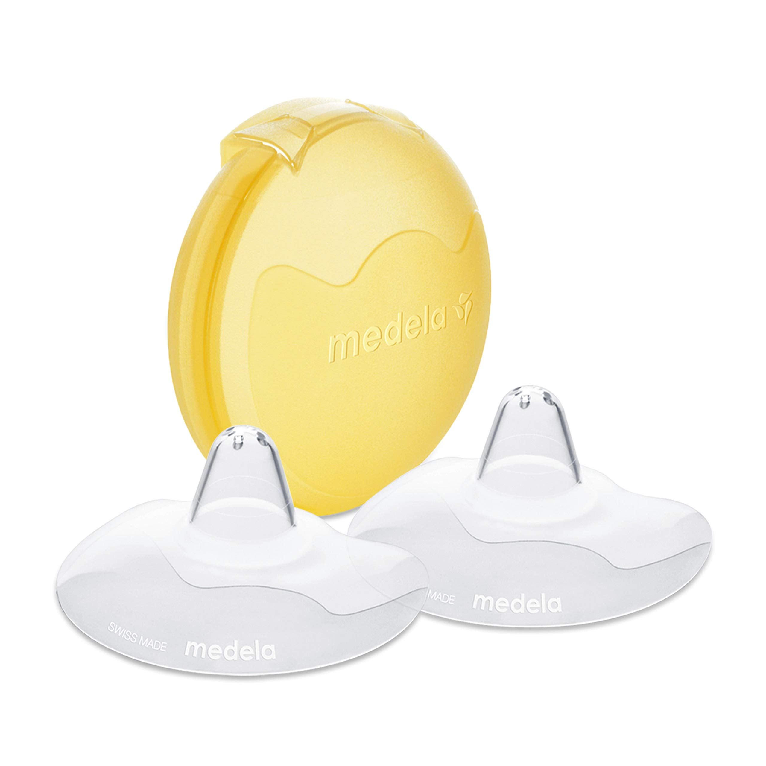 Medela Contact Nipple Shield for Breastfeeding, 16mm Extra Small Nippleshield, For Latch Difficulties or Flat or Inverted Nipples, 2 Count with Carrying Case, Made Without BPA by Medela