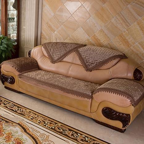 Amazon.com: Aich - Funda de sofá de piel de lujo ...
