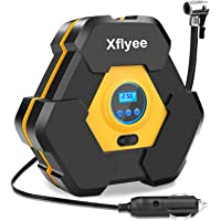 Xflyee Portable Air Compressor Pump, Auto Digital Tire Inflator, 12V 150 PSI Tire Pump with LED Light for Cars/Motorcycle/Bicycle Tires and Other Inflatables