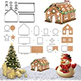 Forvel 3D Christmas Gingerbread House Cookie Cutters Festive Xmas Biscuit Pastry Fondant Cake Decorating Mold Set