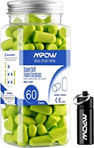 Mpow Super Soft Sleeping Earplugs 60 Pairs with a Carry Case, 32dB NRR Noise Reduction Ear Plugs, Foam Earplugs for Sleeping,