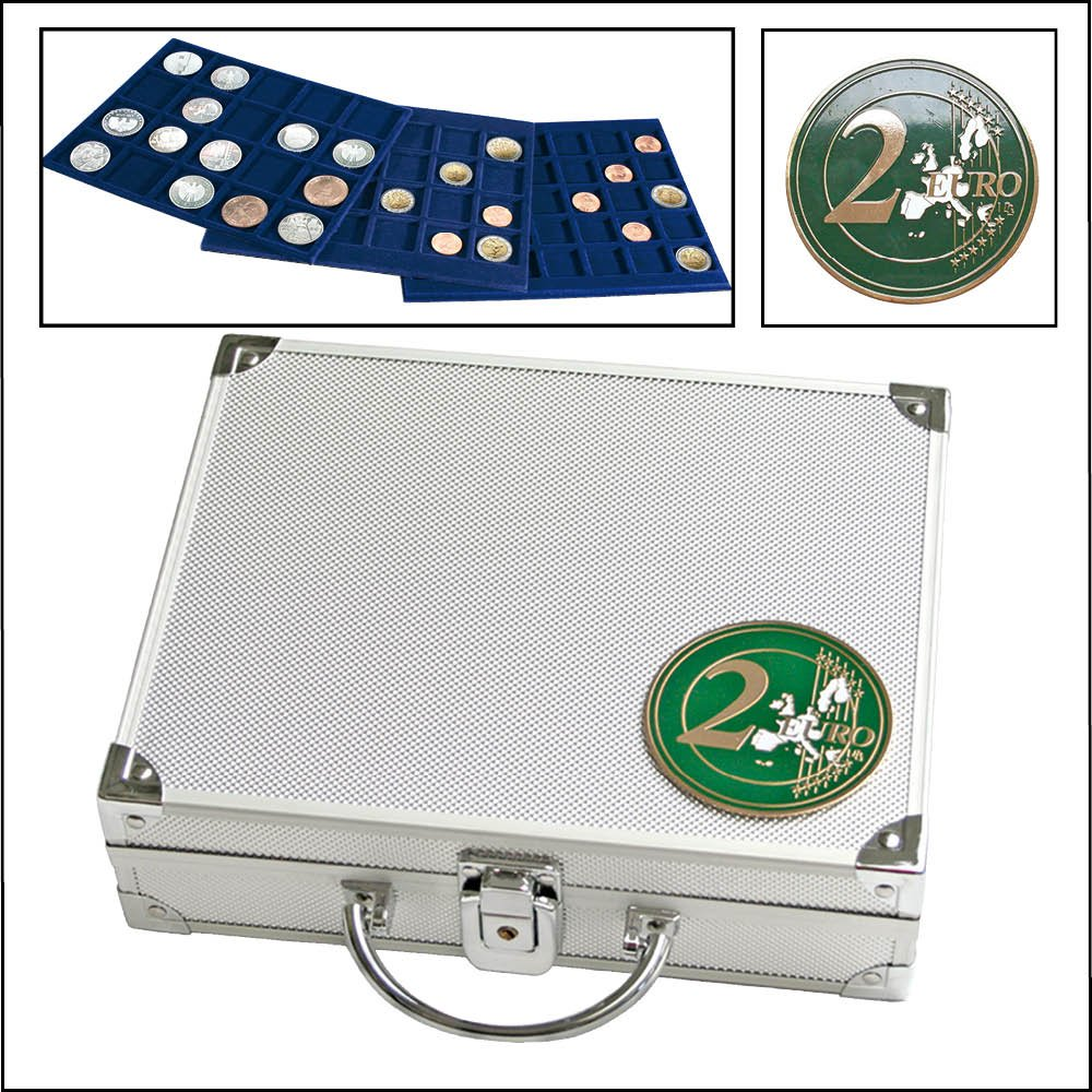 Étui pour rangement de collection de pièces de monnaie Pour 210pièces (Pièce de 2€) SAFE 174