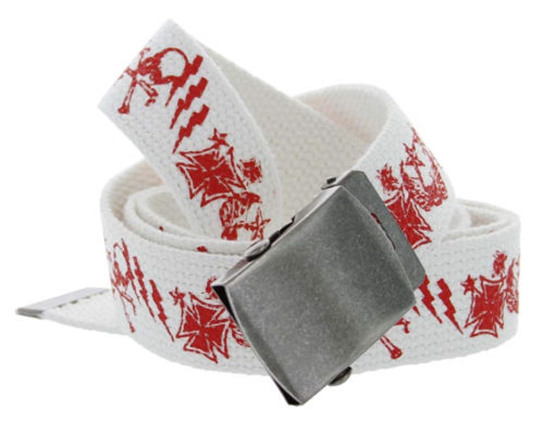 1-1//4 Wide BSC White Canvas Cotton Web Belt