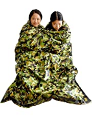 Top Lander - Saco de Dormir de Supervivencia Ligero con Aislamiento térmico Compacto para Exteriores,