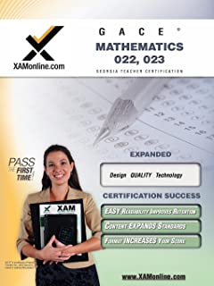 amazon com georgia gace high school math assessment 022 023 w rh amazon com GHSGT Math Study Guide 2014 For High School Geometry Worksheets