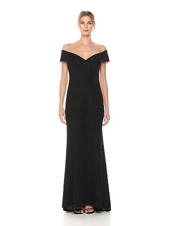 6b892a5344c Eliza J Women s Off-The-Shoulder Glitter Gown at Amazon Women s ...