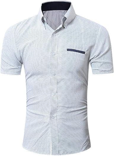 Camisa Hombre Polo De Manga Casual De Manga Corta Office Slim Blusa Business Polo Especial Estilo Camisa Tops Camisas De Verano: Amazon.es: Ropa y accesorios