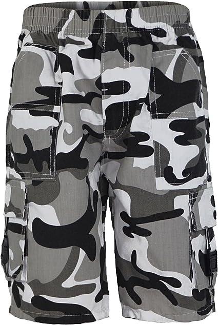 Kinder Shorts Camouflage Mehrere Taschen Jungen Militär