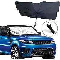 H HOME-MART Car Windshield Sun Shade Umbrella, Foldable Car Sun Umbrella for Windshield Sun Protection Umbrella Front…