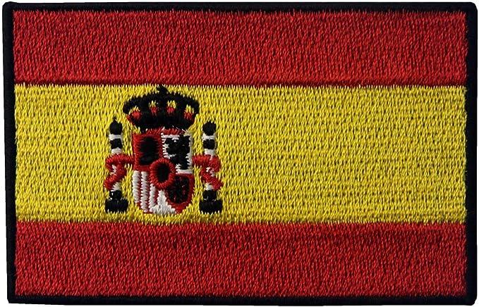 España Bordó El Hierro Bordado Del Applique En Cosen En Insignia Del Remiendo: Amazon.es: Hogar