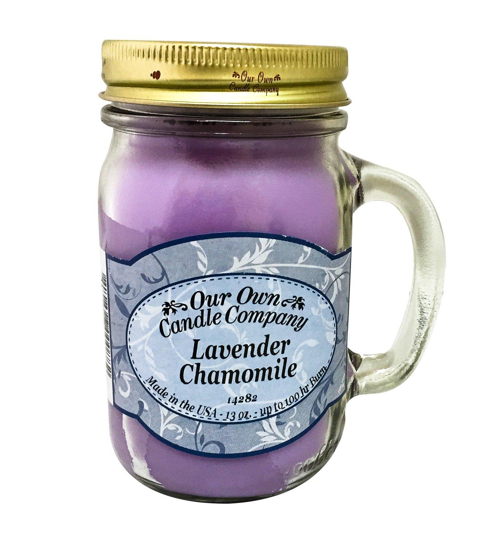 Our Own Candle Company Lavender Chamomile Scented 13 Ounce Mason Jar Candle Company, 13 oz, CompanyLa