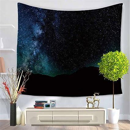 Rectángulo moderno de impresión digital tapiz, moda estrellado cielo toalla de playa cojín, mantel
