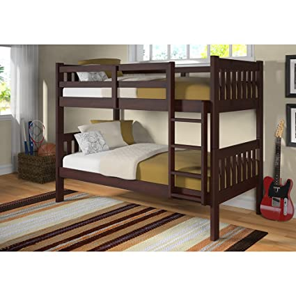 Amazon Com Twin Over Twin Bunk Bed With Twin Trundle Bed Kitchen
