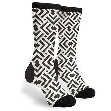 3e4b52f05 Fashion Travel Breathable Socks Striped Rhombuses Men   Women ...