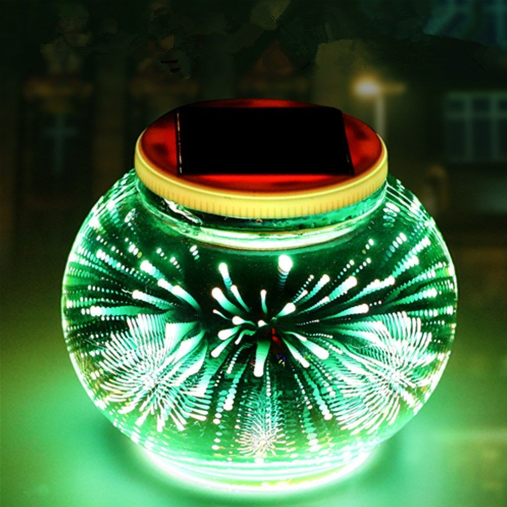 FuriGer Garden Light Solar Powered Color Changing, Party Light Outdoor Solar Powered Led Garden Light Waterproof Indoor Solar Night Light 3D Lamp for Decorations Ideal Gifts
