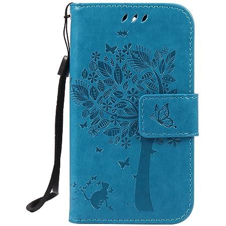 Nancen Compatible with Handyhülle Huawei Ascend Y3 / Y360 / Y336 Flip Schutzhülle Zubehör Lederhülle mit Silikon Back Cover P