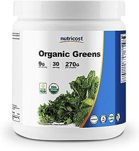 Nutricost Organic Greens Powder, 30 Servings - High Quality Superfood Powder, Certified USDA Organic