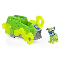 Paw Patrol, Mighty Pups Charged Up Rocky's Deluxe Vehicle with Lights and Sounds