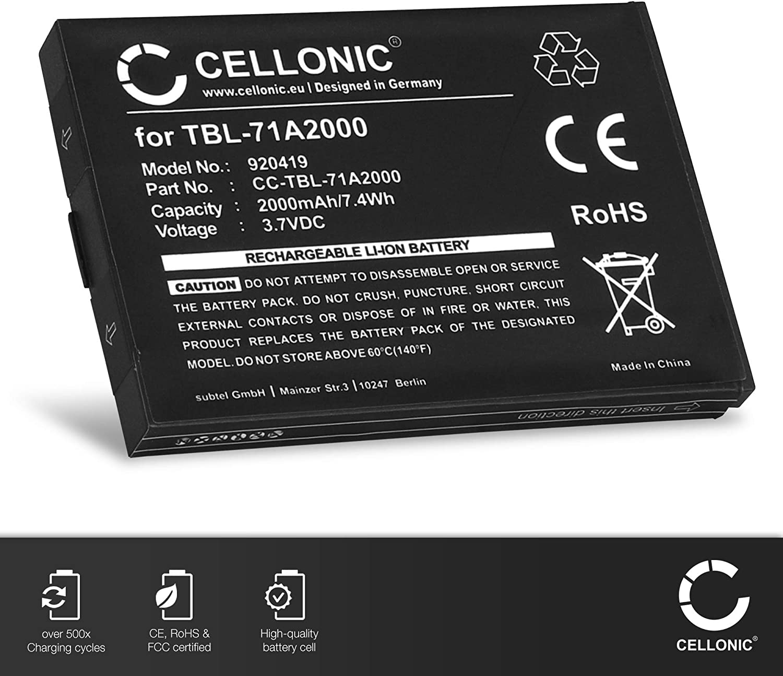 TBL-71A2000 2000mAh Pila Repuesto bateria CELLONIC/® Bater/ía Premium Compatible con TP-Link M5250 // M5350 // M7000 // M7200 // M7300 // M7350 Version 5 /& 5.1 TL-TR761 TL-TR861