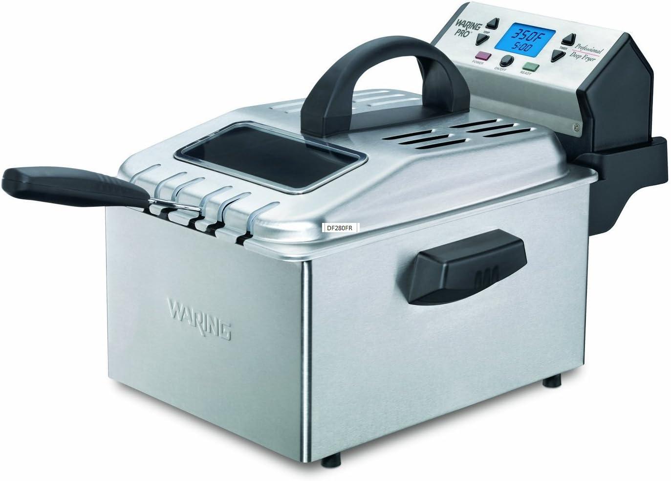 Waring Pro DF280 Professional Deep Fryer, Brushed Stainless Renewed