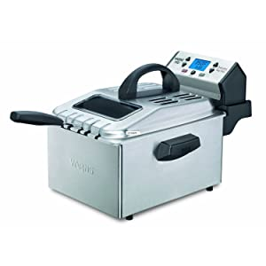 Waring Pro DF280 Professional Deep Fryer, Brushed Stainless (Renewed)