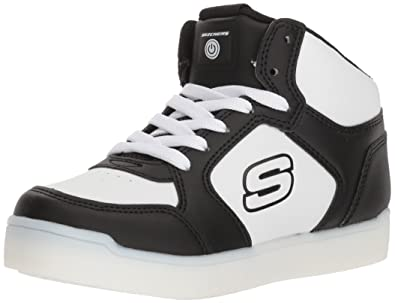 Skechers Kids' Mid Top Lace up Shoe W/Hidden Sneaker