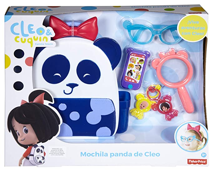 Amazon.com: Fisher-Price Cuquin Cleos Panda Bag Figures, Multi Color: Toys & Games