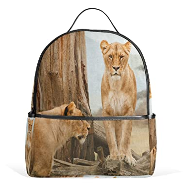 31921b11fb Image Unavailable. Image not available for. Color  School Backpack for Boys  Girls African Lion College Students ...
