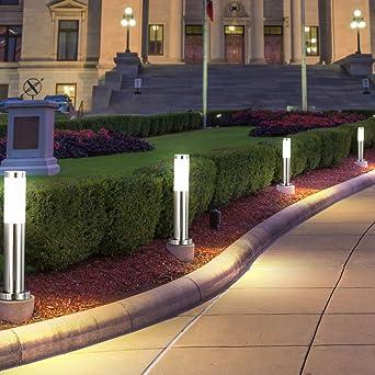 4x RGB LED Außen Stand Lampen Terrassen Farbwechsel Garten Weg Leuchten dimmbar