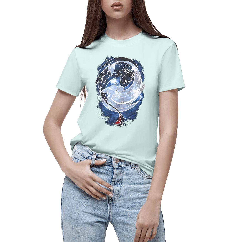 Night Fury Love Light Fury Girls Best T Shirts Short Sleeve Cotton Athletic T Shirts