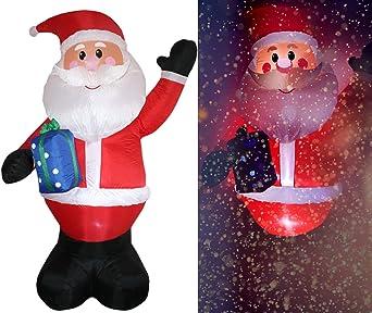 Tronje XXL LED Papá Noel inflable 300cm X-Mas Santa Navidad Claus Nicolás Turbina interior y exterior: Amazon.es: Iluminación