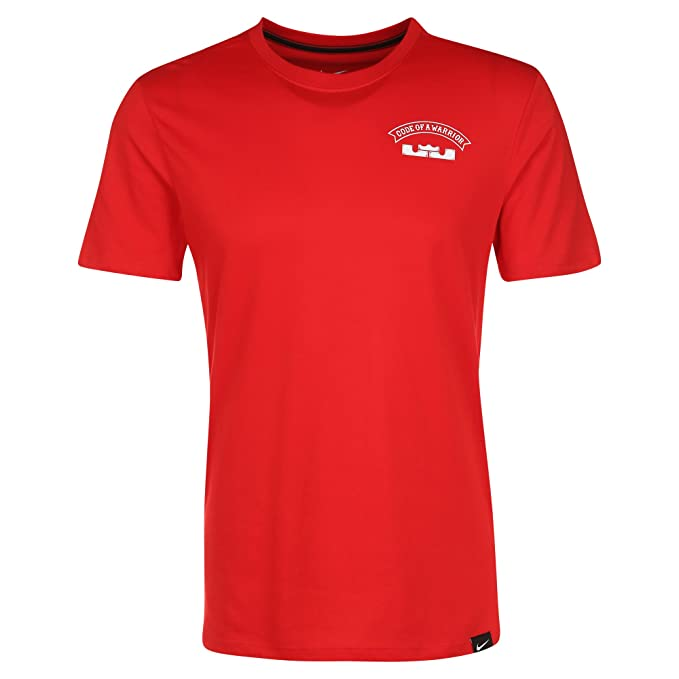 2b41b517 Amazon.com: NIKE Mens Lebron Foundation Dri-Fit Shirt Red/White Lion ...